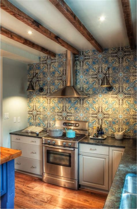 cool kitchen backsplash cool cement tile backsplash galley kitchen reno