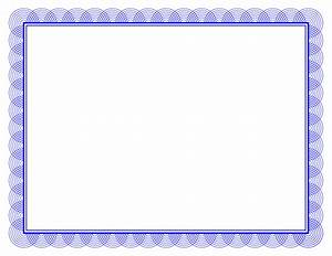 Blue certificate border wwwimgkidcom the image kid has it for Blue certificate border