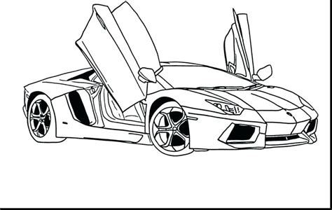 Lambourghini Free Colouring Pages