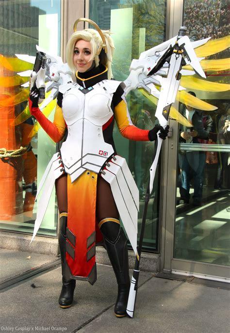 overwatch cosplay shows  mercy adafruit