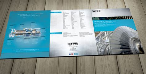 industrial machine parts large brochure design brochure