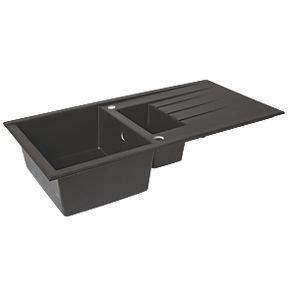 plastic kitchen sink plastic resin kitchen sink drainer black 1 5 bowl 1540