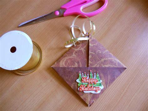 origami gift card envelope