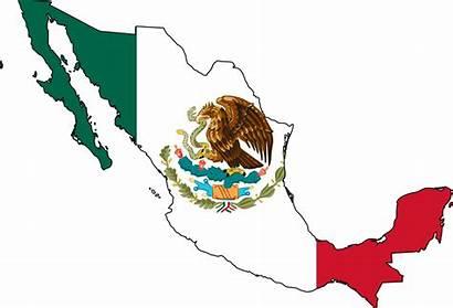 Mexico Flag Map Leaf