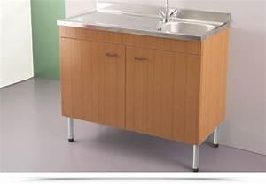 Nuovo mobile per cucina con lavello acciaio inox 100x50 for Mobile con lavello per cucina