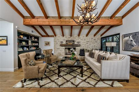 Classy Rustic Living Room Interior With Modern Elements #13714