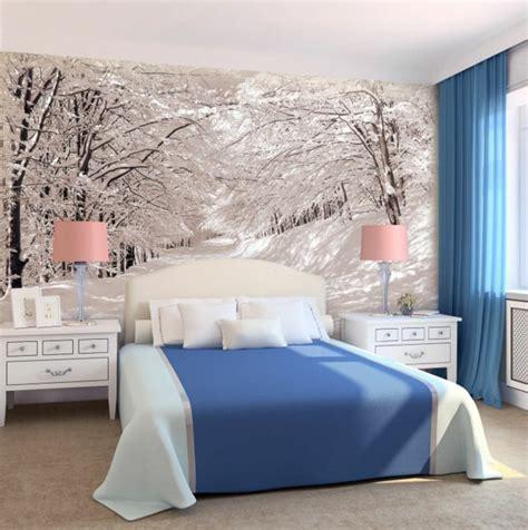chambre avec mur en 50 photos avec des idées pour poser du papier peint intissé