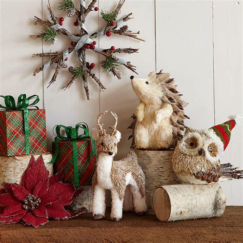 woodland wonderland christmas decor   white bristle