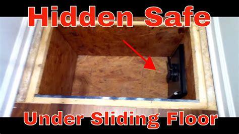 secret hidden safe  sliding floor youtube