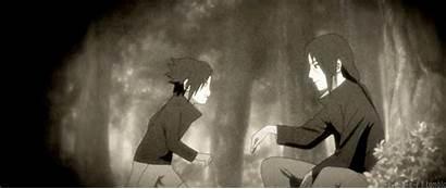 Itachi Sasuke Naruto Gifs Anime Uchiha Vs