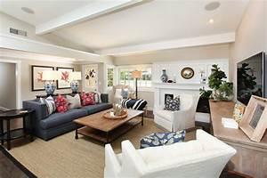Coastal Family Renovation - Beach Style - Living Room