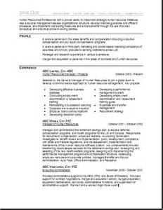 create human resource resume