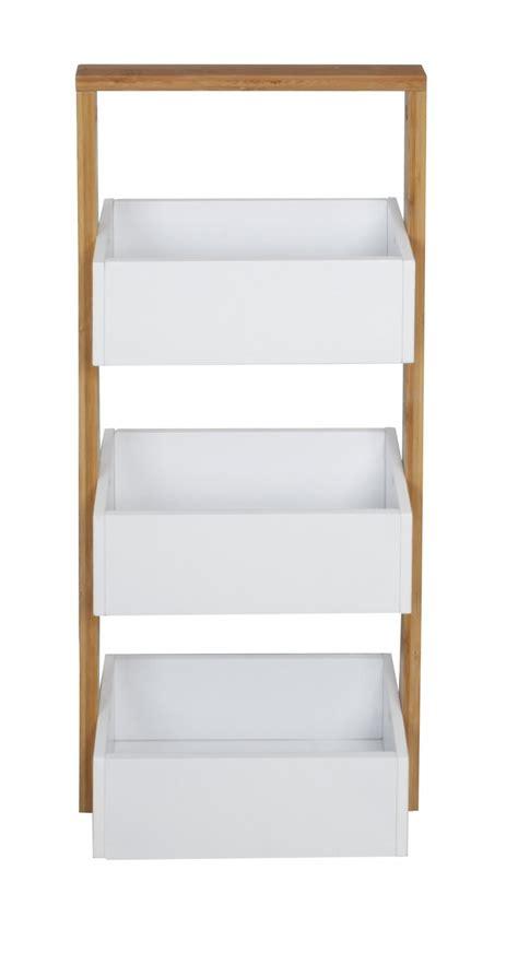 weiße küche mit holz massiv holz bambus badregal mit 3 ablagen regal bad