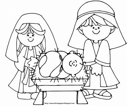 Coloring Nativity Jesus Pages Printable Sheets Activity