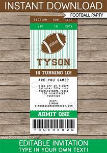 football ticket invitation template football ticket With sports ticket template free download