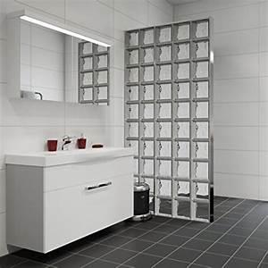 Mur En Brique De Verre Salle De Bain : briques de verre prix d 39 un mur au m2 pose et fourniture ~ Dailycaller-alerts.com Idées de Décoration