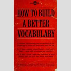 How To Build A Better Vocabulary (1961 Edition)  Open Library