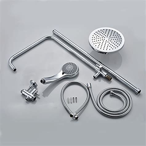 Auralum® Aufputz Duscharmatur Duschset Höhenverstellbar