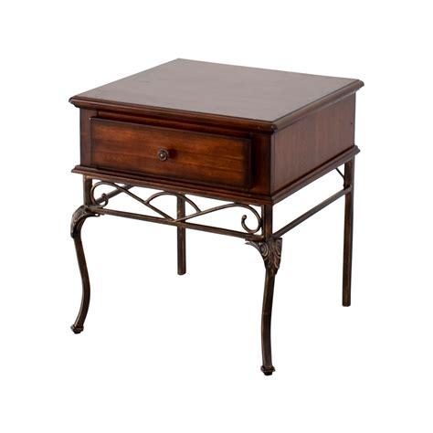 wood and metal end tables 90 wood and metal single drawer end table tables