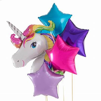 Unicorn Rainbow Balloon Bouquet Inflated Helium Filled