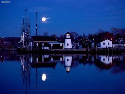 Mystic Connecticut Seaport Nature Night Ct Wallpapers