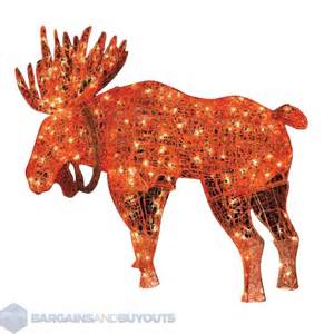 outdoor metal frame lighted moose christmas decoration 418592 ebay
