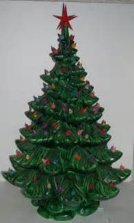 vintage ceramic lighted christmas tree 24 inch