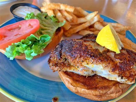 grouper sandwich plating bar food grill island treasure joe beach brown sloppy restaurant lori