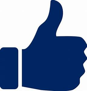 Blue Thumbs Up Icon Clip Art at Clker.com - vector clip ...