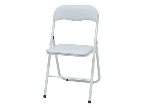chaise pliante breva coloris blanc vente de table et chaises de jardin conforama