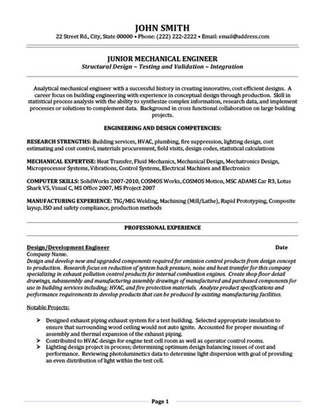 junior mechanical engineer resume template premium