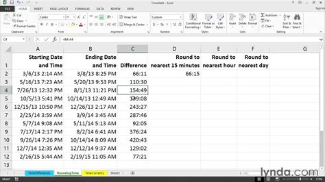 calculating  hours minutes  time  day excel