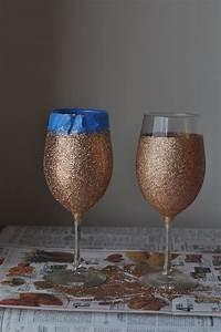 DIY: Glitter Drip Wine Glasses