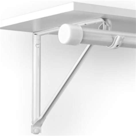 3 light duty shelf and rod bracket white at menards