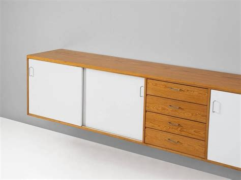 Wall-mounted Credenza In Pine At 1stdibs