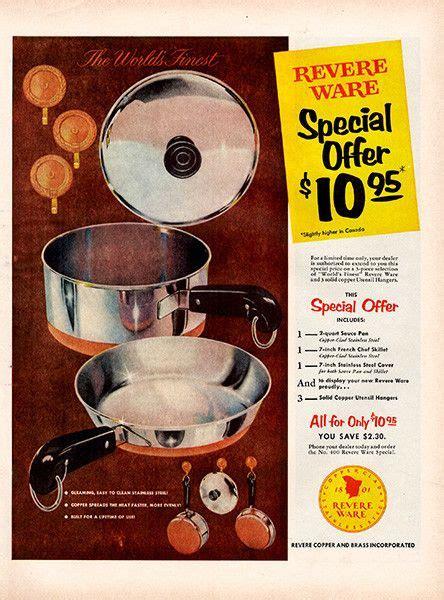 revere ware ads images  pinterest revere ware vintage ads  vintage advertisements