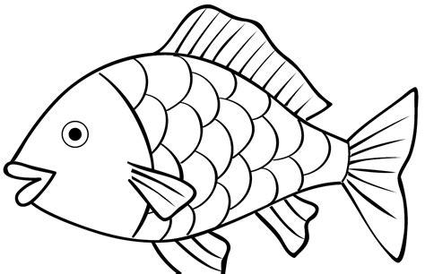 sketsa gambar ikan untuk mewarnai mewarnai