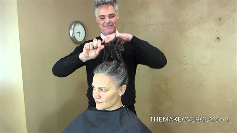 Long Hair Cut Super Short and Reveal the Gray! by