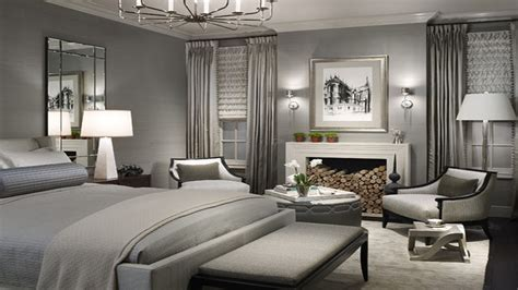 Beautiful Grey Master Bedroom Themes With Grey Cover Beds
