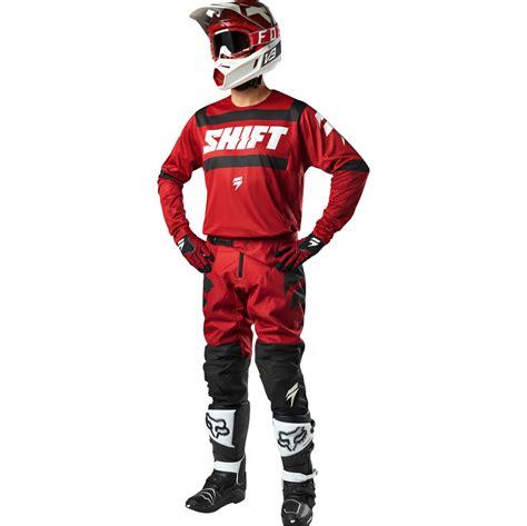 black friday motocross gear 2018 shift 3lack strike gear kit dark red sixstar racing