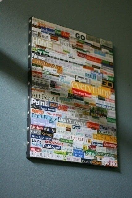 school magazine collage art     framed
