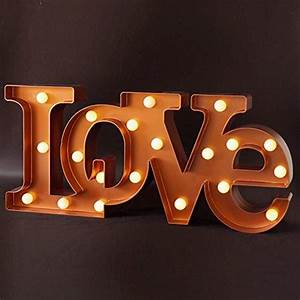 bright zeal decorative led lighted quotlovequot letters 18quot x 8 With light up decorative letters