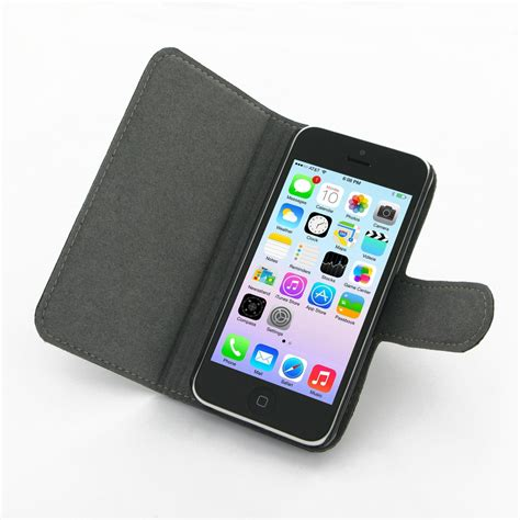 flip image iphone iphone 5c leather flip cover pdair wallet sleeve