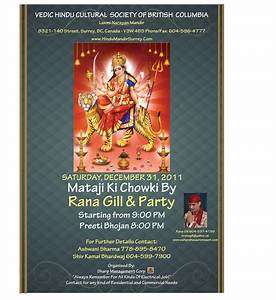 invitation mataji ki chowki in surrey bc canada on With wedding invitation for mata ki chowki