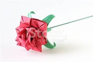 Papierblumen Selber Basteln : complex origami rose stock photos ~ Orissabook.com Haus und Dekorationen