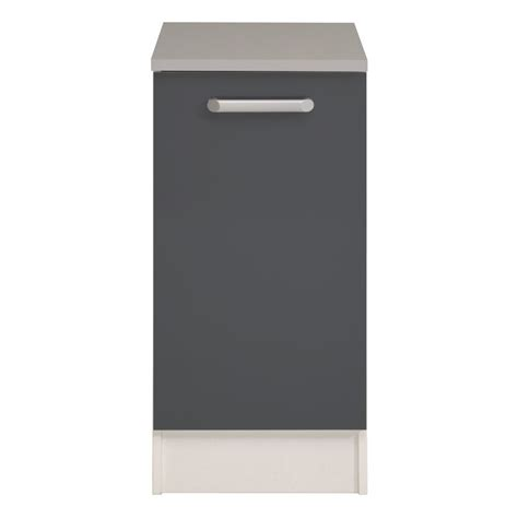 meuble bas cuisine gris meuble bas cuisine 1 porte 40cm quot shiny quot gris
