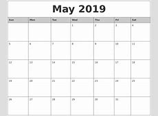 2019 Printable Calendar Word printable yearly calendar