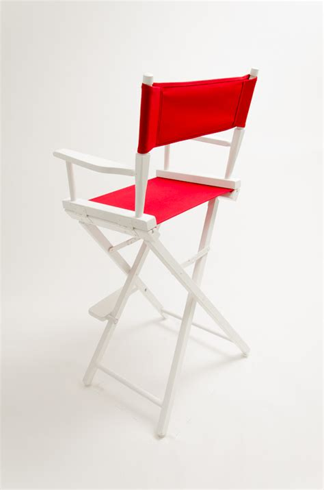 gold medal directors chair commercial white 30 quot canvas
