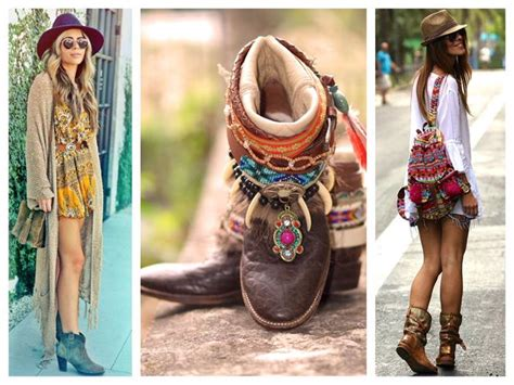 ideas  romantic  chic boho style outfits