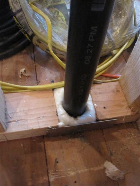foam holes  plumbing   top plate sill plate